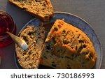 artisan made savoy olive loaf...   Shutterstock . vector #730186993