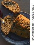 artisan made savoy olive loaf...   Shutterstock . vector #730187017