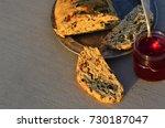 artisan made savoy olive loaf...   Shutterstock . vector #730187047