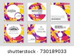 abstract vector layout... | Shutterstock .eps vector #730189033