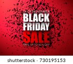 black friday sale abstract... | Shutterstock .eps vector #730195153