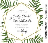 wedding invitation  floral... | Shutterstock .eps vector #730201813