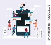 web design and app development... | Shutterstock .eps vector #730202173