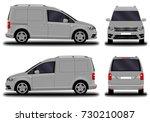 realistic cargo van. front view ... | Shutterstock .eps vector #730210087