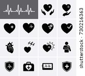 heart icons. attack heart icon. ... | Shutterstock .eps vector #730216363