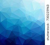 blue polygonal mosaic... | Shutterstock .eps vector #730225963