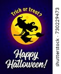 halloween vector illustration... | Shutterstock .eps vector #730229473