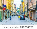 stockholm  sweden  august 18 ... | Shutterstock . vector #730238593
