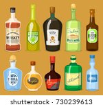 alcohol strong drinks in... | Shutterstock .eps vector #730239613