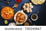 indian cuisine on diwali... | Shutterstock . vector #730240867