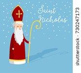 Cute Greeting Card With Saint...