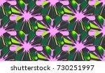 3d abstract geometric... | Shutterstock . vector #730251997