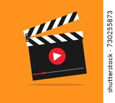video action vector icon... | Shutterstock .eps vector #730255873