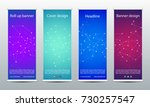 abstract roll up banner for... | Shutterstock .eps vector #730257547