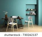 interior modern design room 3d... | Shutterstock . vector #730262137