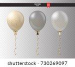 realistic transparent helium... | Shutterstock .eps vector #730269097