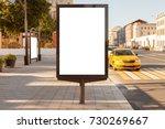 blank vertical street billboard ... | Shutterstock . vector #730269667