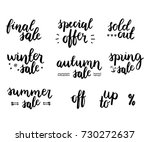 sale lettering set. seasonal... | Shutterstock . vector #730272637