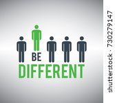 be different. being different... | Shutterstock .eps vector #730279147