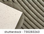 close up detail of floor tiles...   Shutterstock . vector #730283263