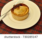 traditional scottish pie   meat ... | Shutterstock . vector #730285147