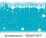 winter abstract background  ... | Shutterstock .eps vector #730297357