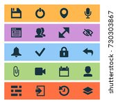 user icons set. collection of...   Shutterstock .eps vector #730303867