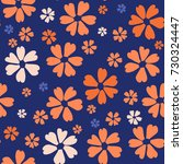 simple floral pattern. cute... | Shutterstock .eps vector #730324447