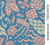 seamless abstract vector... | Shutterstock .eps vector #730325473