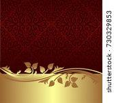elegant ornamental background...   Shutterstock .eps vector #730329853
