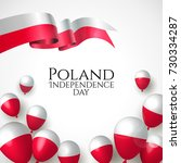 11 november  poland happy... | Shutterstock .eps vector #730334287