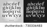 Vector Elegant Alphabet Letter...