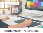 creative people working on...   Shutterstock . vector #730340383