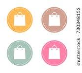 shopping bag spring color...   Shutterstock .eps vector #730348153