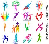 abstract geometry people body...   Shutterstock .eps vector #730348957