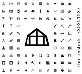 mansard roof icon. set of... | Shutterstock .eps vector #730351237