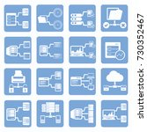 database and network icon set... | Shutterstock .eps vector #730352467