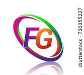letter fg logotype design for... | Shutterstock .eps vector #730355227