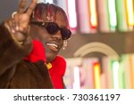 Small photo of Rapper LIL YACHTY attends the 2017 BET HIP-HOP AWARDS red carpet on Friday, October 6th, 2017 at the FILLMORE MIAMI BEACH AT THE JACKIE GLEAN THEATER - USA