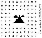 mountain icon vector isolated...   Shutterstock .eps vector #730364677