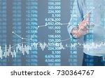 businessman plan graph growth... | Shutterstock . vector #730364767