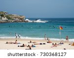 coastal cliff  sunbathers and... | Shutterstock . vector #730368127