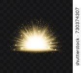 gold glittering trail sparkling ... | Shutterstock .eps vector #730374307