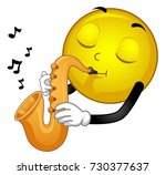 illustration of a smiley mascot ... | Shutterstock .eps vector #730377637