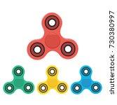 hand spinner set. fidget toy... | Shutterstock .eps vector #730380997