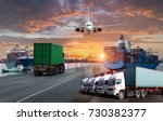 logistics and transportation of ... | Shutterstock . vector #730382377