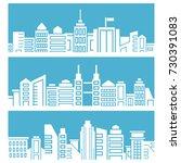 city skyscrapers skyline in... | Shutterstock .eps vector #730391083