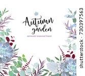 Autumn Plants Vector Design...