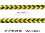 caution sign. arrow yellow and... | Shutterstock .eps vector #730398697