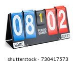 small sports score board... | Shutterstock . vector #730417573